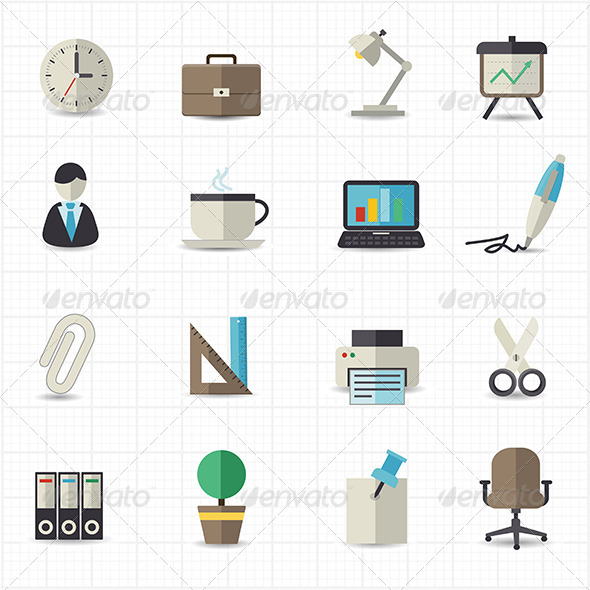 GraphicRiver Office Icons 8417746