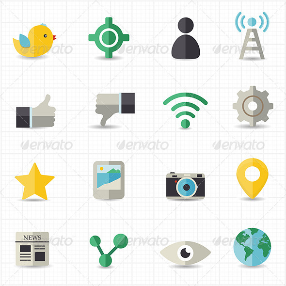 GraphicRiver Social Networking Icons 8417753
