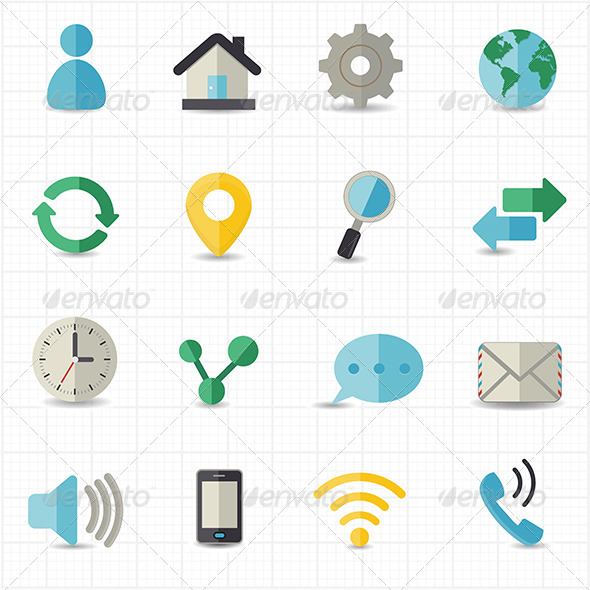 GraphicRiver Web and Internet Icons 8417759