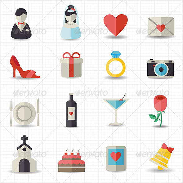 GraphicRiver Wedding Icons 8417786