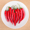 Plate with fresh chili peppers - PhotoDune Item for Sale