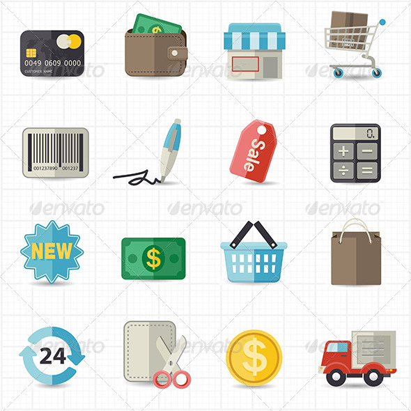 GraphicRiver Business Finance and Shopping Icons 8417859