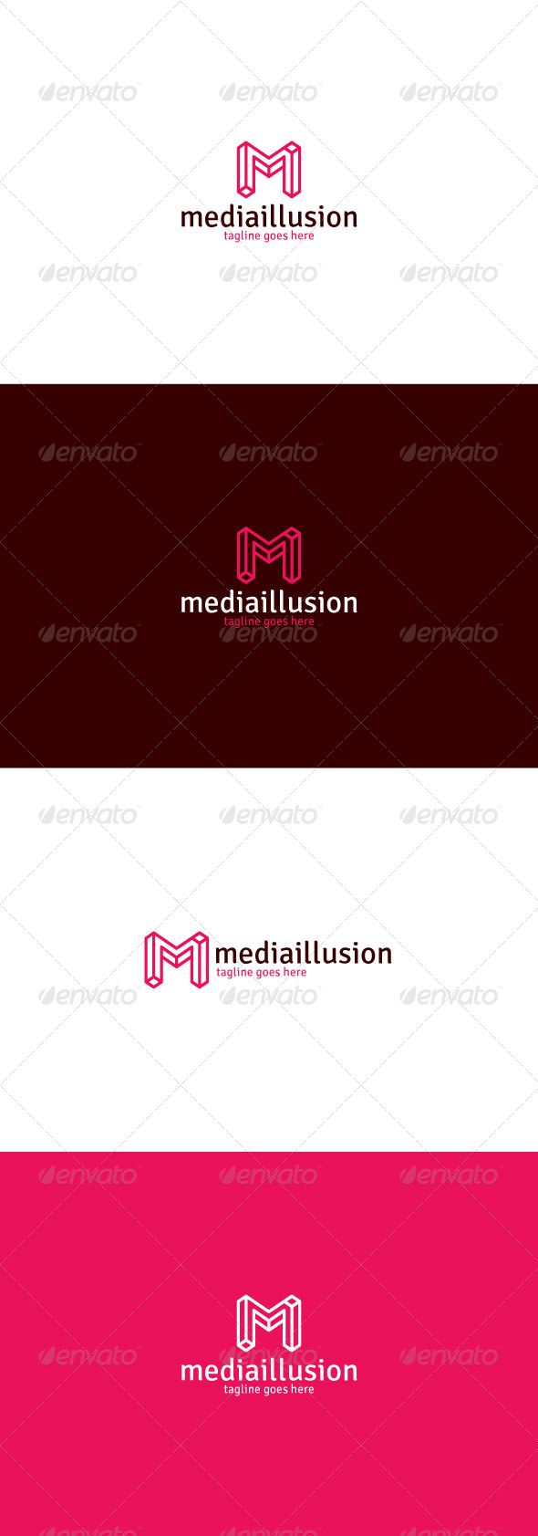 GraphicRiver Media Illusion Logo Letter M 8415913