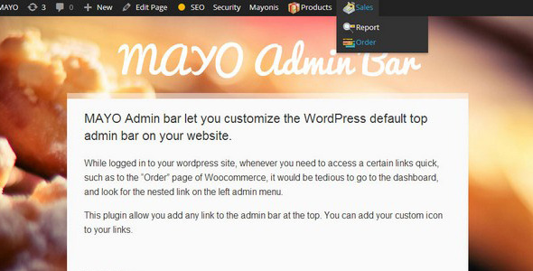 Mayo Admin Bar - CodeCanyon Item for Sale