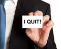 Businessman Showing Card With I Quit Sign - PhotoDune Item for Sale
