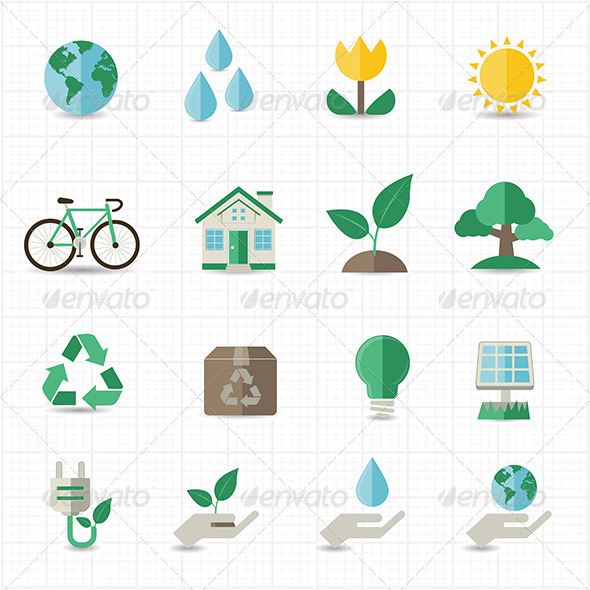 GraphicRiver Green Energy Icons 8417930