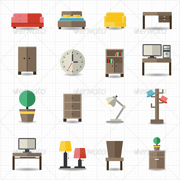 GraphicRiver Home and Office Furniture Interiors 8417939