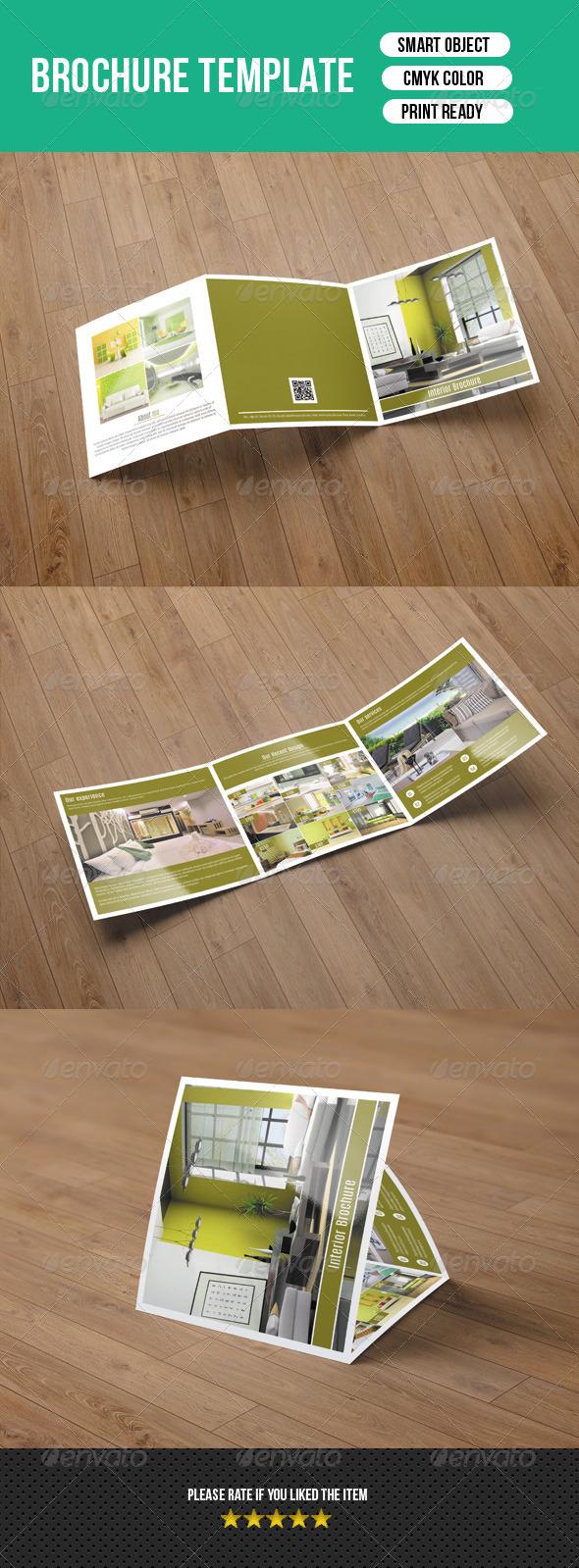 Square Trifold Brochure Interior Design-V20