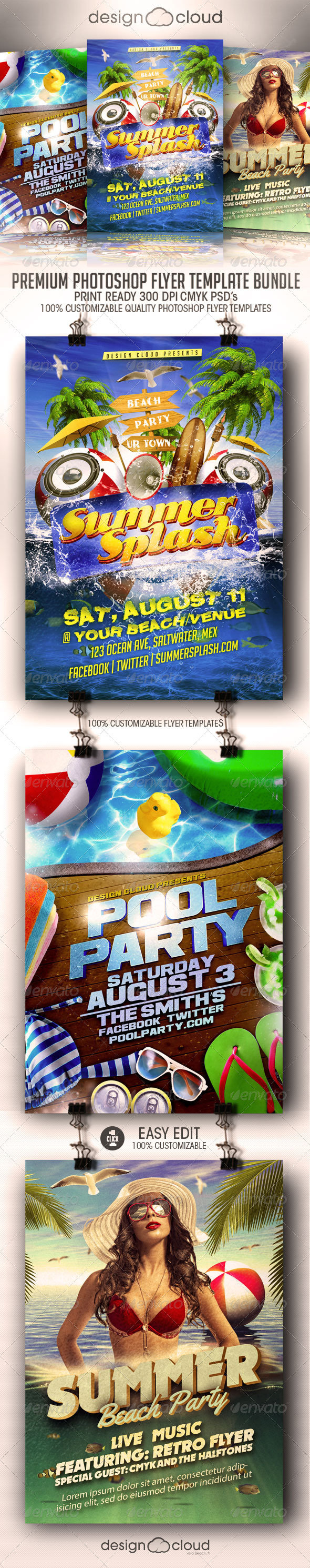 GraphicRiver Summer Flyer Flyer Template Bundle Vol 1 8417964