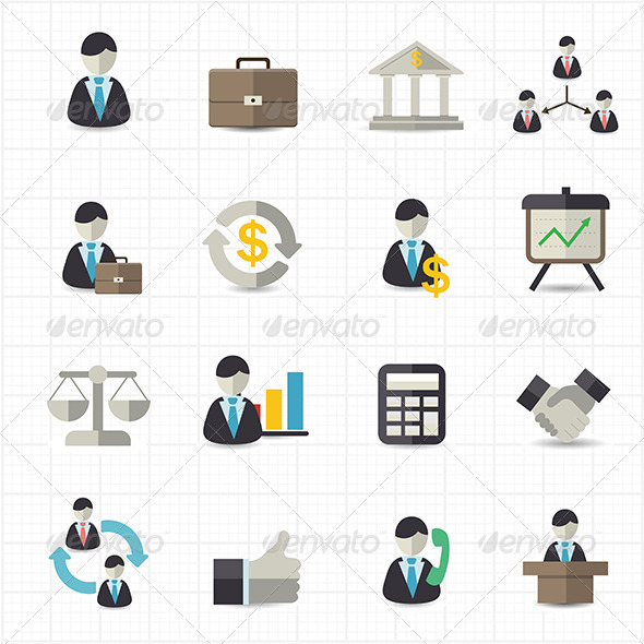 GraphicRiver Management and Business Icons 8417978