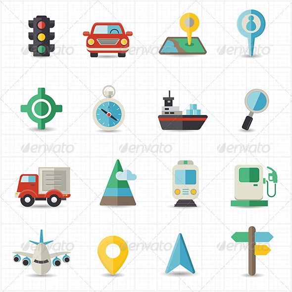 GraphicRiver Map Navigation and Transportation 8418028