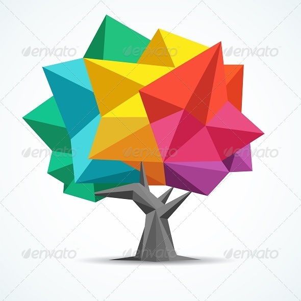 GraphicRiver Colorful Tree 8418029