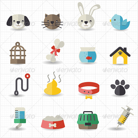 GraphicRiver Pet Icons 8418064