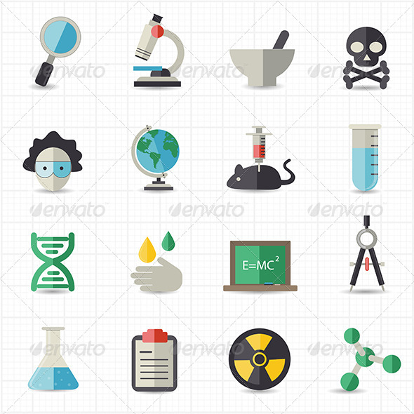 GraphicRiver Science and Education Icons 8418079