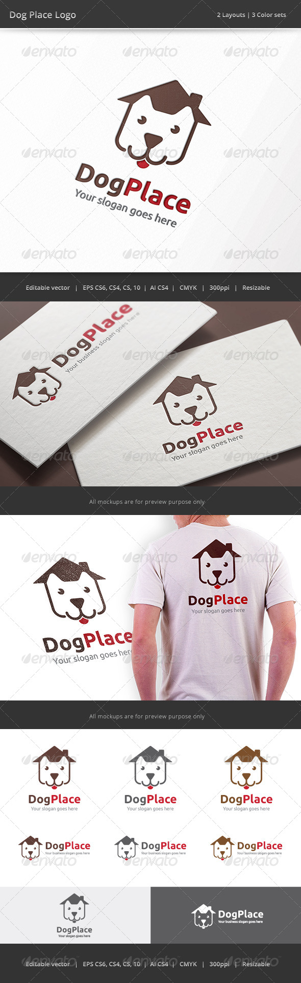 GraphicRiver Dog Place Logo 8418162