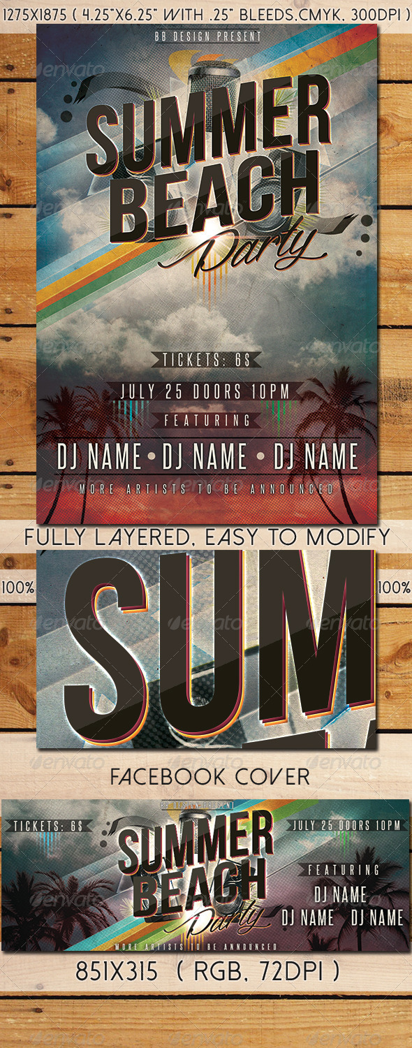 GraphicRiver Summer Beach Party Flyer Vol.2 8418176