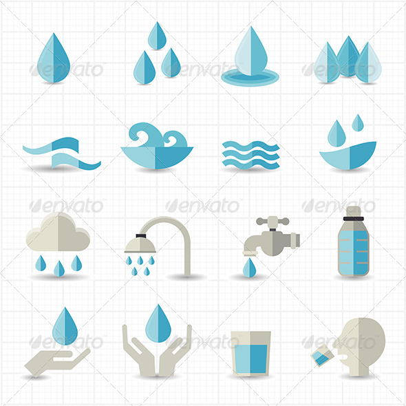 GraphicRiver Water Related Icons 8418191