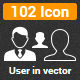 102 User Vector Icon