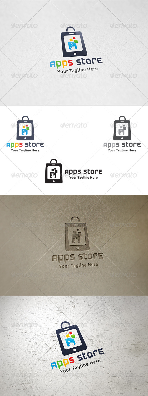 GraphicRiver Apps Store Logo Template 8419241