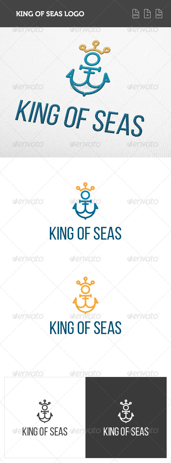 GraphicRiver King of Seas Logo 8419282