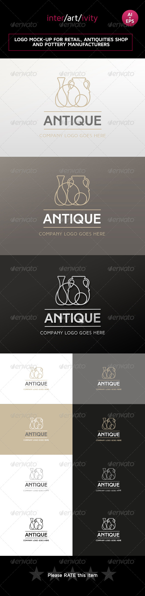 GraphicRiver Logo design for antiques and retail 8415315