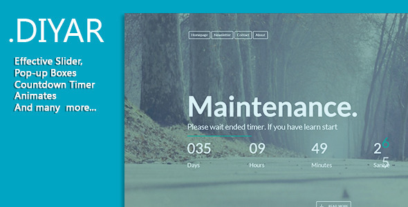 ThemeForest Diyar Responsive Coming Soon Page 8419415