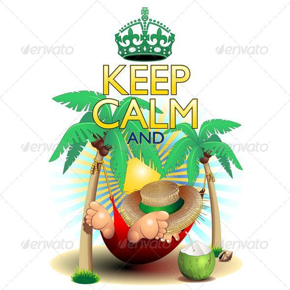 GraphicRiver Keep Calm and...Relax on Hammock 8413879