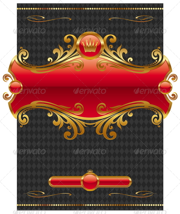 GraphicRiver Design with Ornate Golden Frame 8419437