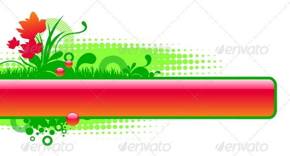 GraphicRiver Vector Floral Glossy Frame 8419598