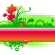 Vector Floral Glossy Frame - GraphicRiver Item for Sale