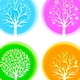 Four Seasons Vector Trees - GraphicRiver Item for Sale