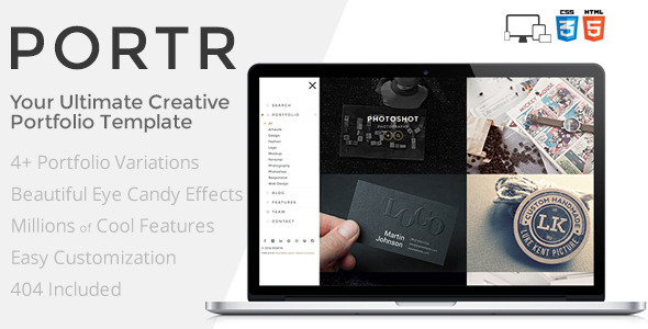 ThemeForest PORTR Ultimate Creative Portfolio Template 8406450