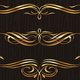 Golden Calligraphic Vector Design Elements - GraphicRiver Item for Sale