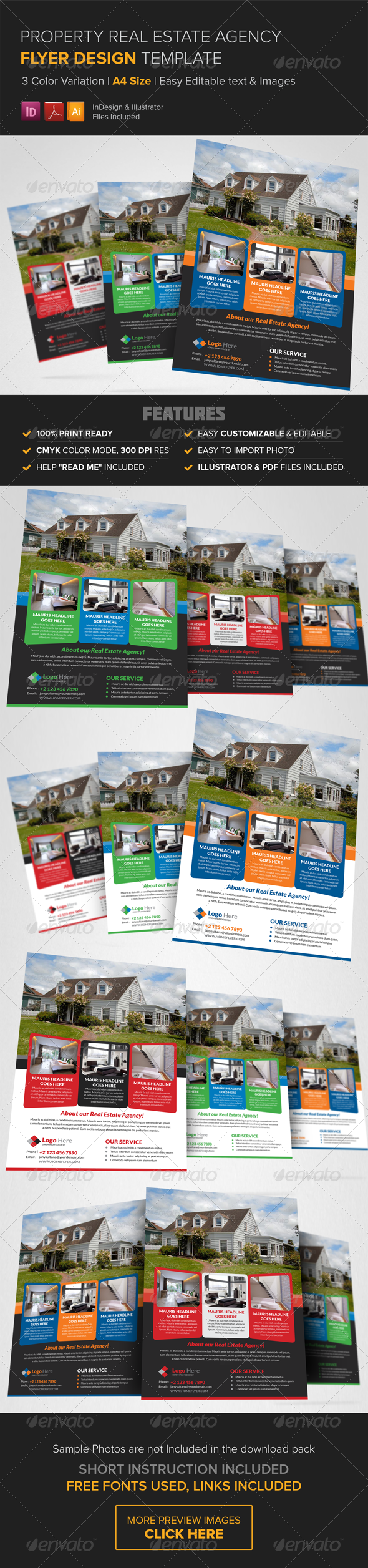 GraphicRiver Property Real Estate Agency Flyer Template 8419809