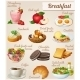 Set of Different Food Icons. Breakfast.   - GraphicRiver Item for Sale