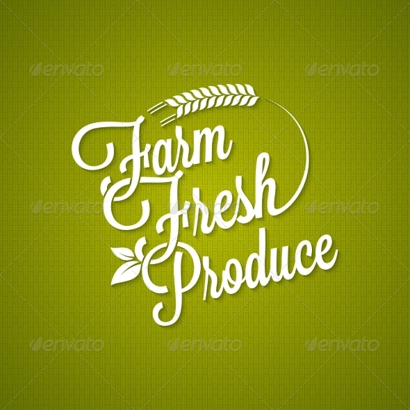 GraphicRiver Farm Fresh Vintage Lettering Background 8420404