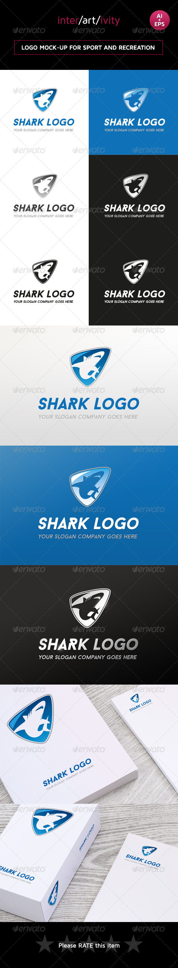 GraphicRiver Shark logo 8422075