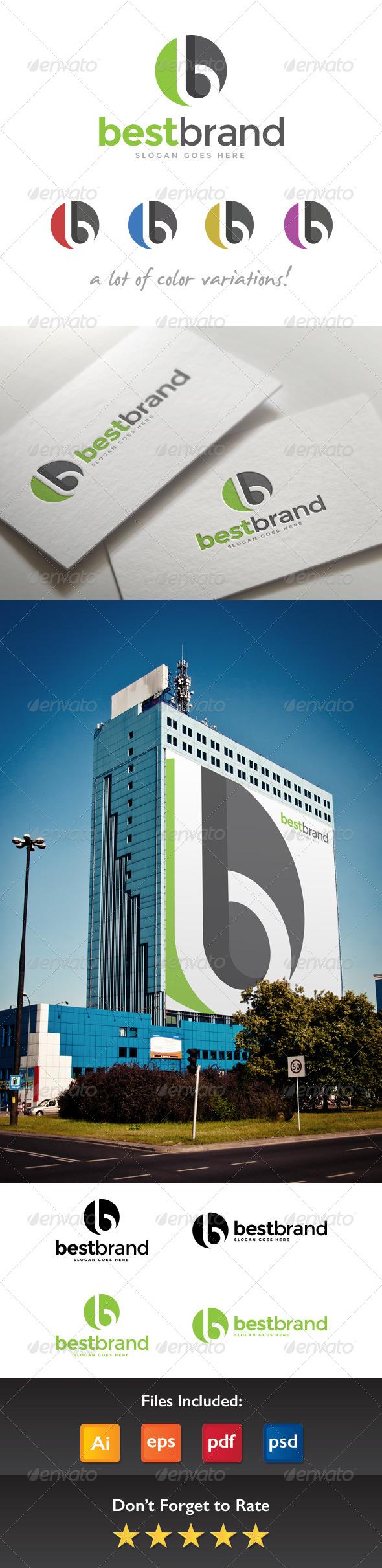 GraphicRiver Best Brand Letter B Logo 8422101