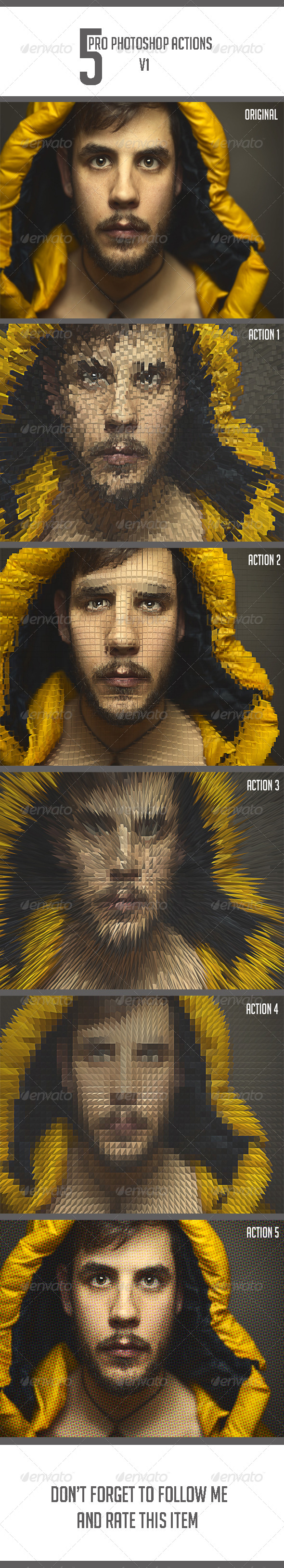 GraphicRiver 5 Ps Actions v1 8415390