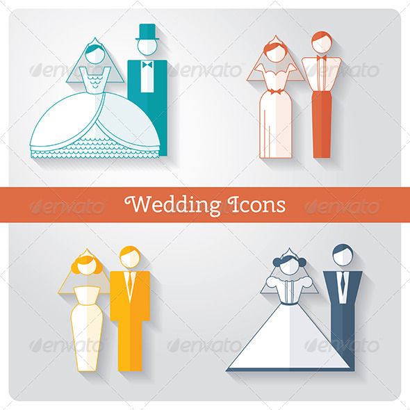 GraphicRiver Set of Wedding Icons 8422380