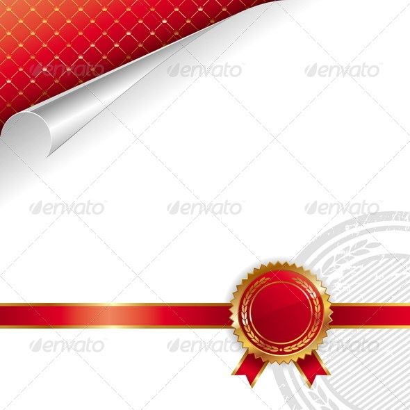 GraphicRiver Golden-Red Royal Design with Seal of Quality 8422394
