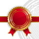 Golden-Red Royal Design with Seal of Quality