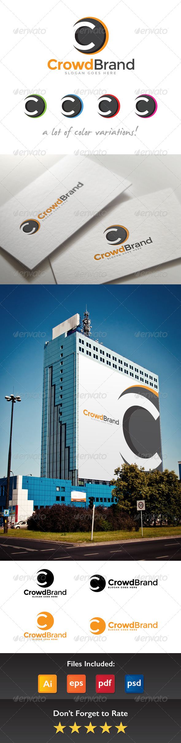 GraphicRiver Crowd Brand Letter C Logo 8422467