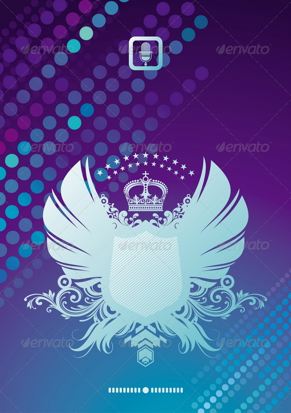 GraphicRiver Glittering Background & Coat of Arms 8422540