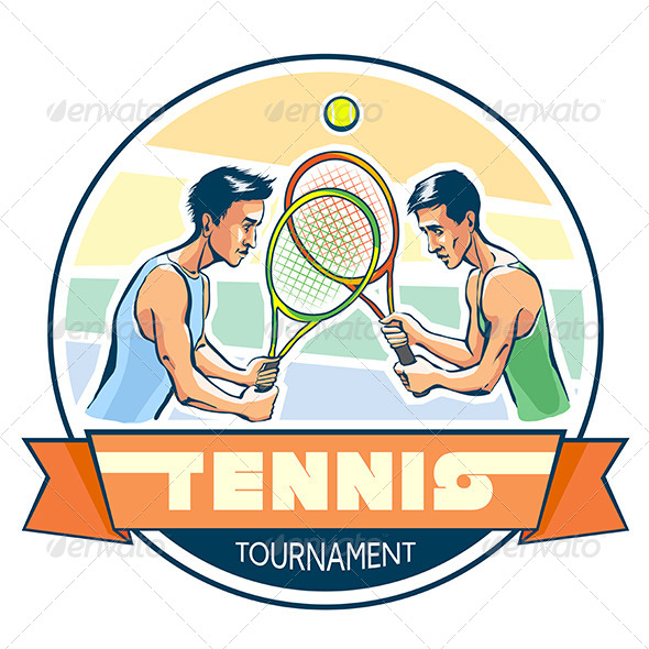 GraphicRiver Emblem of Tennis Tournament 8422541