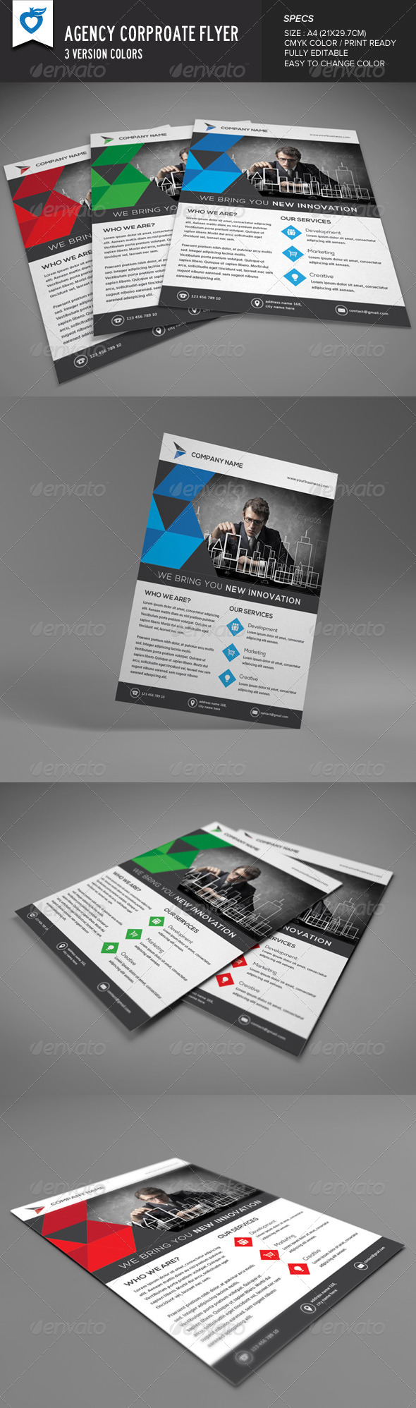 GraphicRiver Agency Corporate Flyer 8422551