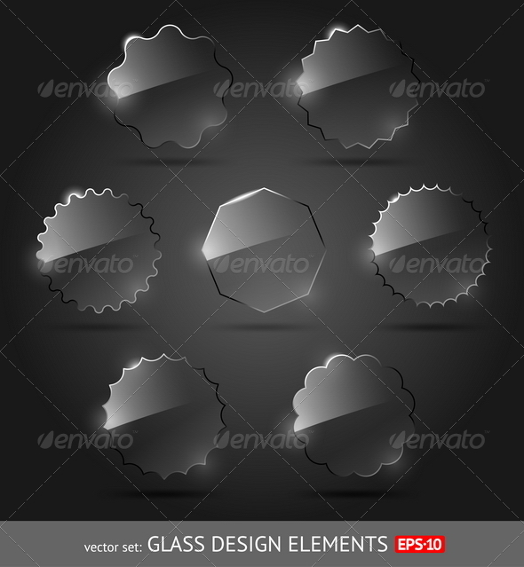 GraphicRiver Vector Set of Glass Design Elements 8422684