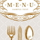 Menu Design with Vintage Cutleries - GraphicRiver Item for Sale