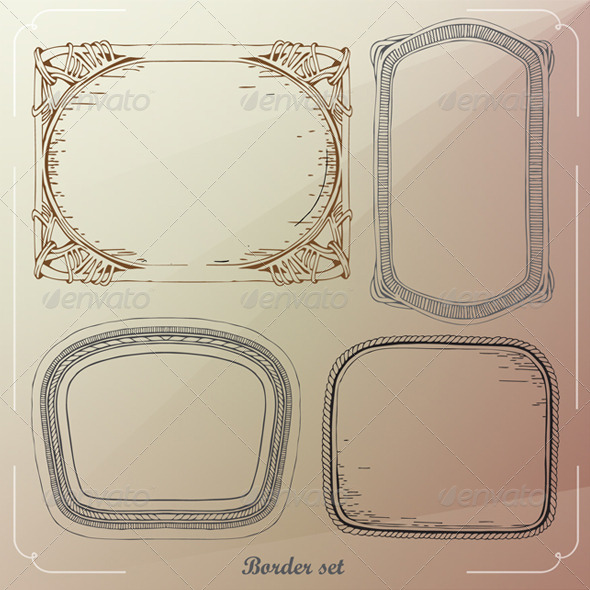 GraphicRiver Borders Vector Decorative Frames 8422742