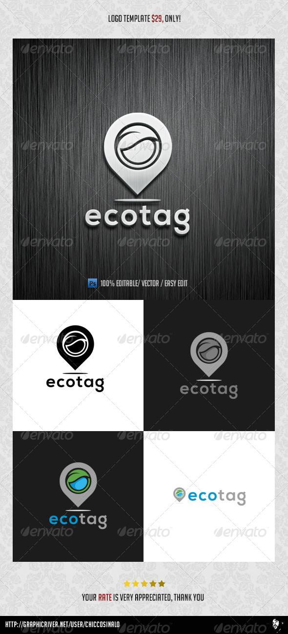 GraphicRiver Ecotag Logo Template 8422743